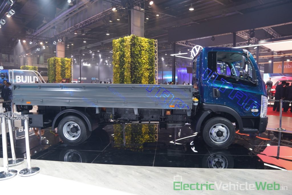 Tata Ultra Electric Truck side view - Auto Expo 2020