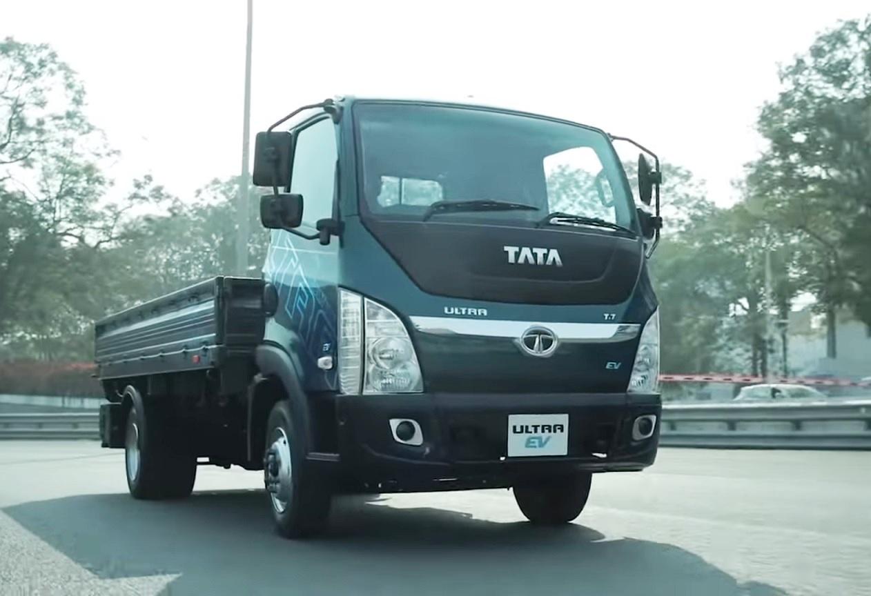 Tata Ultra T7 Electric Truck video shot