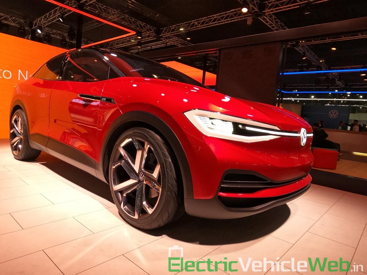 VW ID Crozz front three quarter at Auto Expo 2020