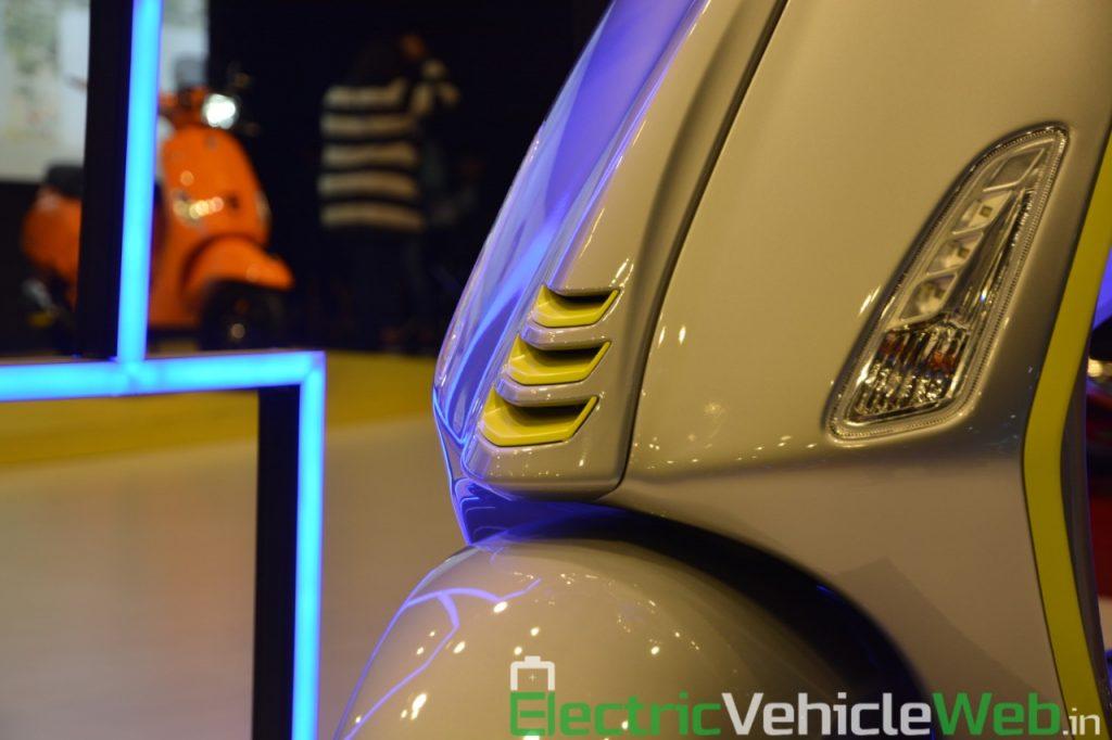 Vespa Elettrica front apron - Auto Expo 2020