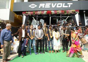 Rahul Sharma Revolt Motors at the inauguration of the Chennai dealership
