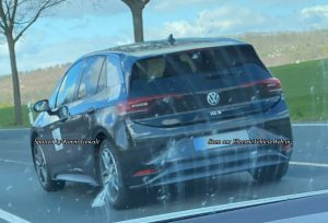VW ID.3 spotted in Germany rear view taillamp bumper spoiler