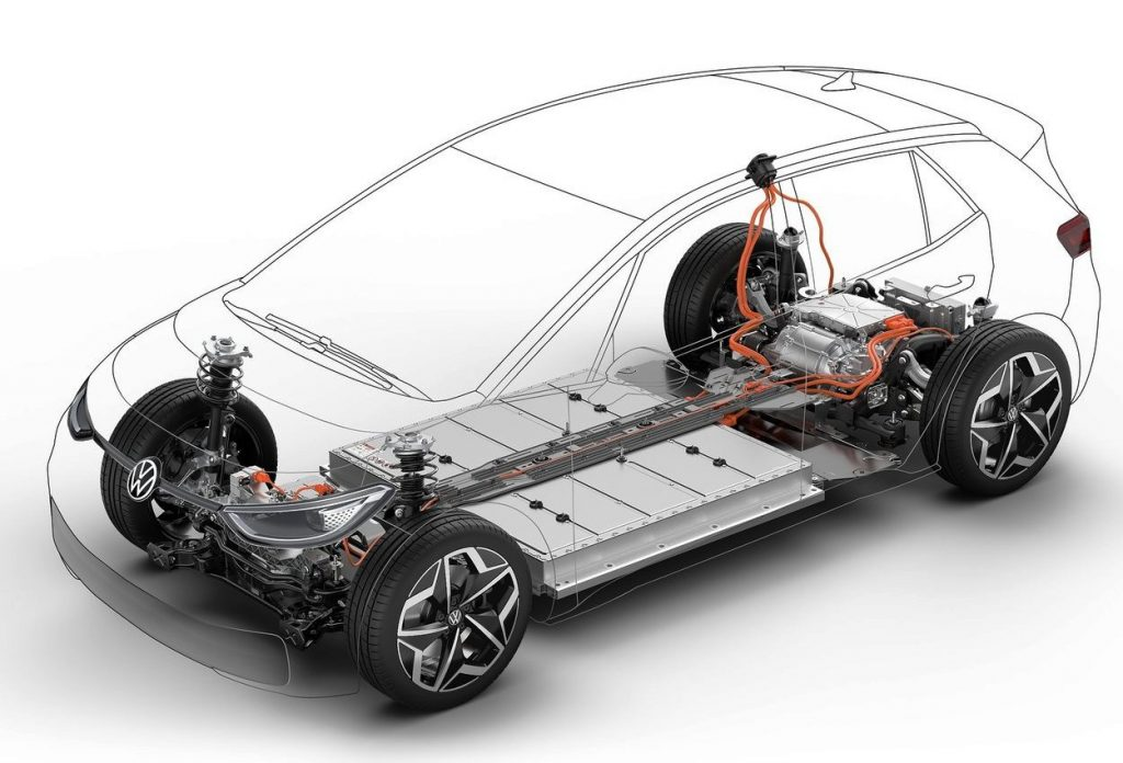 Volkswagen ID.3 battery chassis