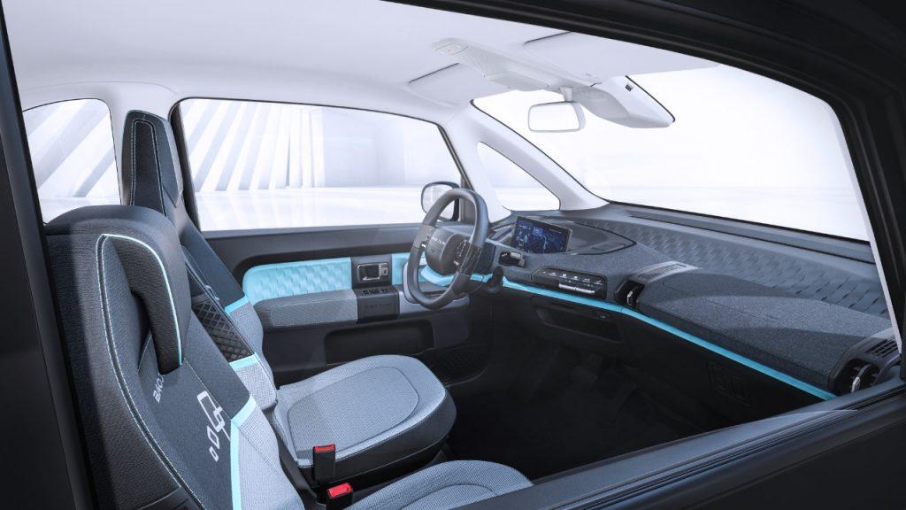Baojun E300 front seats