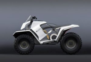 Max Betteridge Corretto electric ATV inspired by the Tesla Cyberquad