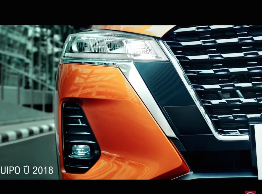 Nissan Kicks ePower 2020 headlight chrome and grille tease screenshot