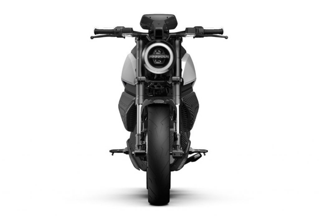 Niu RQi electric motorcycle front view