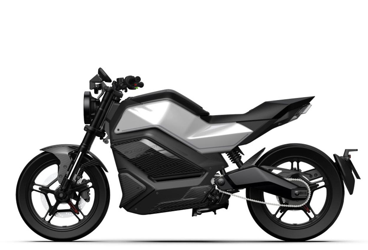 Niu RQi electric motorcycle side view
