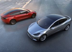 Top view of the Tesla Model 3
