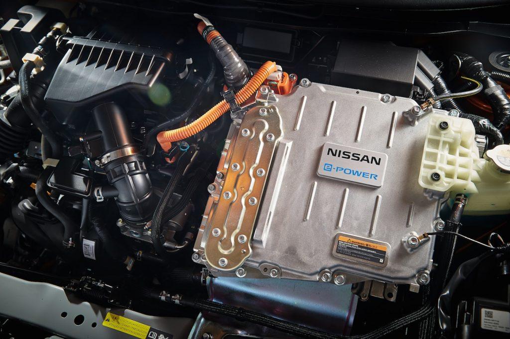 2020 Nissan Kicks ePower battery and motor press photo