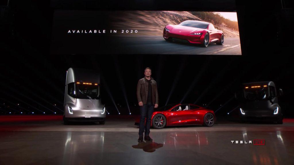 2022 Tesla Roadster unveil Tesla Semi Elon Musk