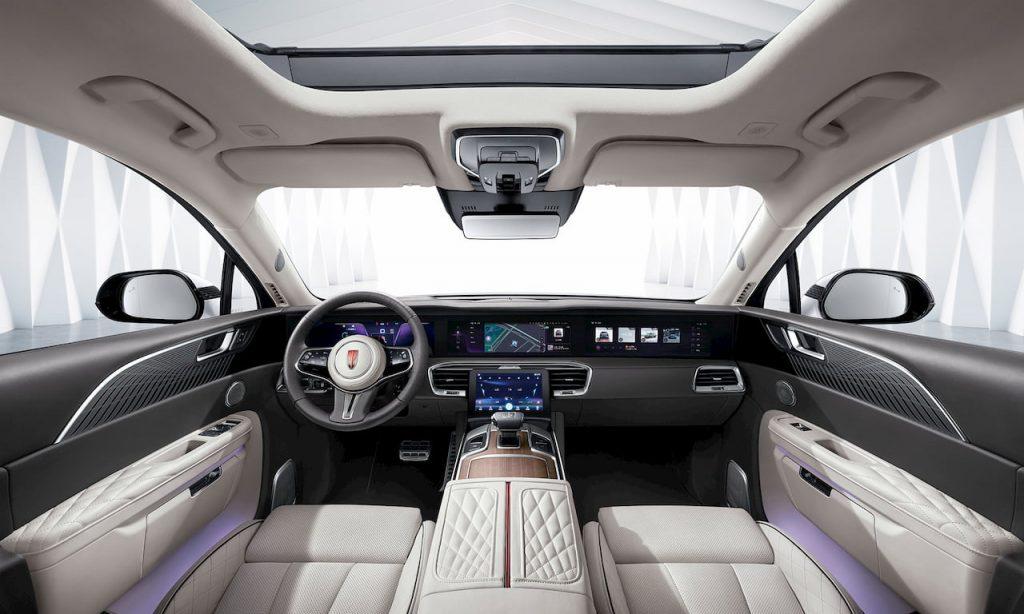 Hongqi E-HS9 interior Chinese Rolls Royce