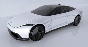 Polestar 7 Concept rendering front three quarter view