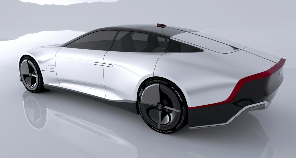 Polestar 7 Concept rendering rear three quarter view