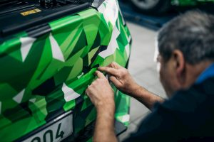 Skoda Enyaq iV electric grille camouflaged