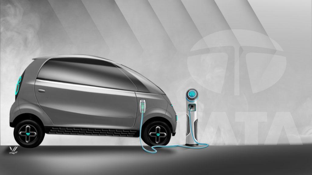 Tata iNano EV Concept side view
