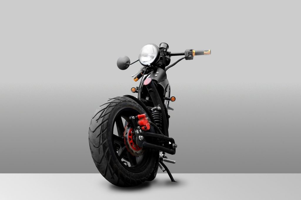 Urbet Ego electric motorcycle front view