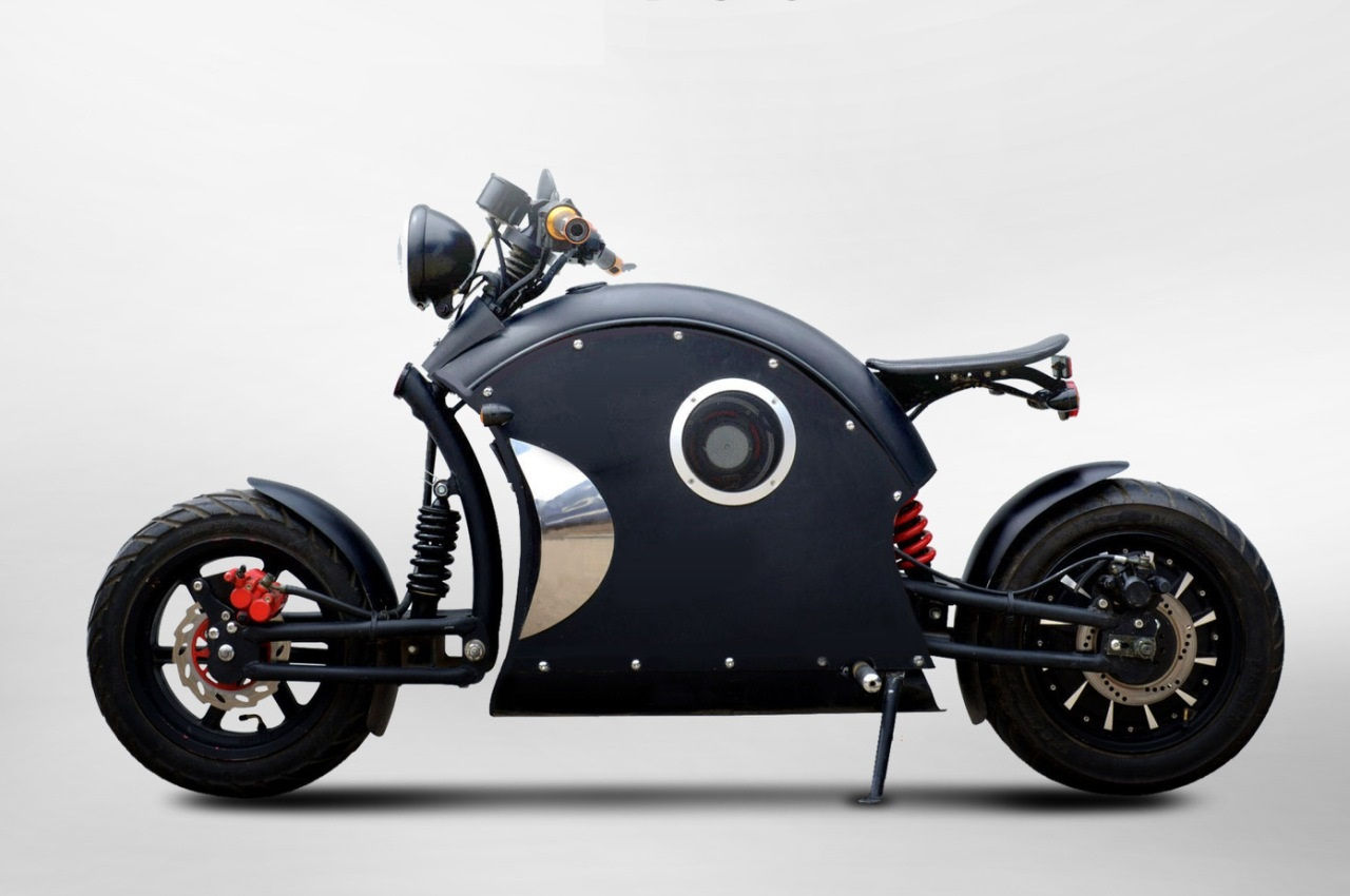 Urbet Ego electric motorcycle side view