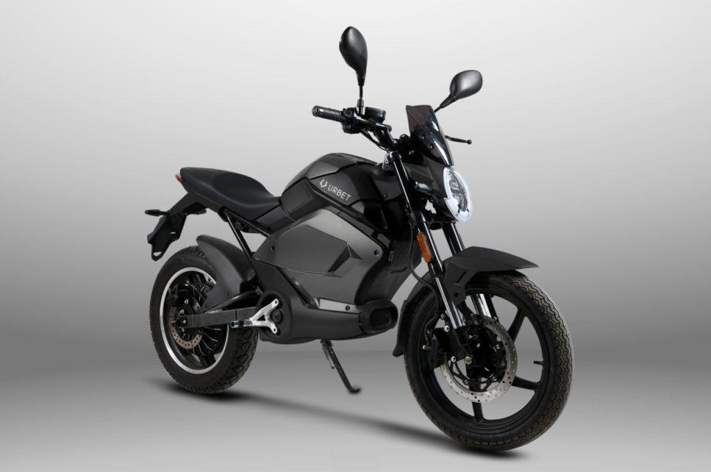 Urbet Gadiro E-125 motorcycle front three quarter view