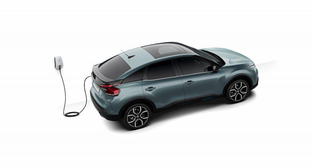 Citroen e-C4 charging press image