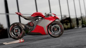 MV Agusta FE Electric red side view