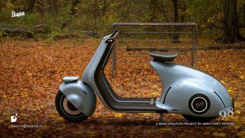 Indian design studio reimagines the Classic Vespa with a futuristic twist