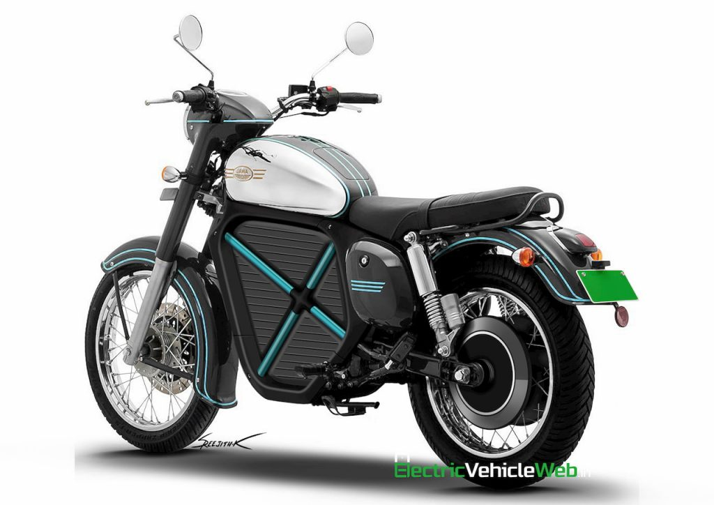 Jawa Electric Bike render rear angle