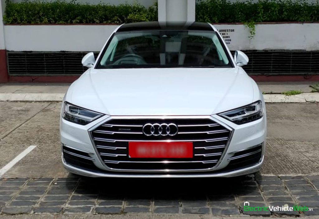 New 2020 Audi A8L 55 TFSI front in India
