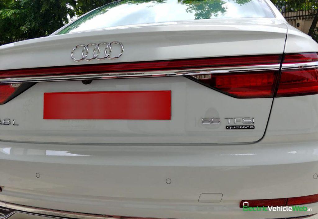 New 2020 Audi A8L 55 TFSI rear in India