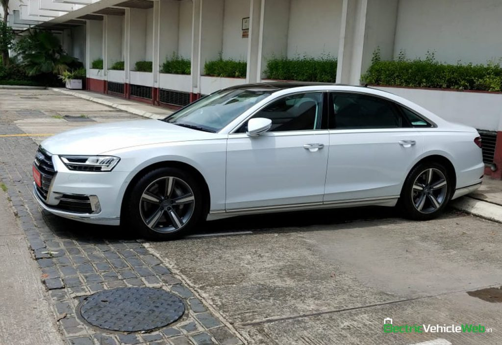 New 2020 Audi A8L 55 TFSI side in India