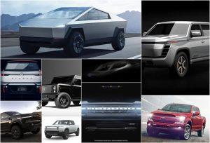 Upcoming electric pickup trucks