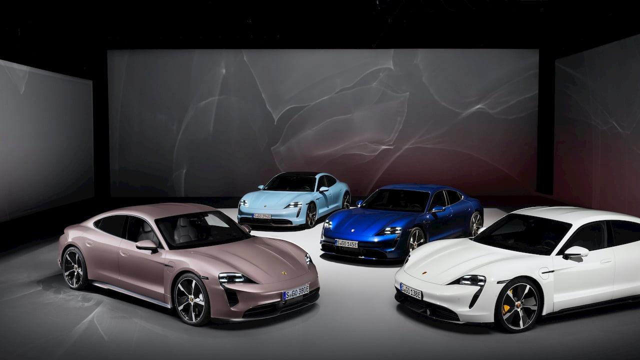 2021 Porsche Taycan RWD 4S Turbo Turbo S variants