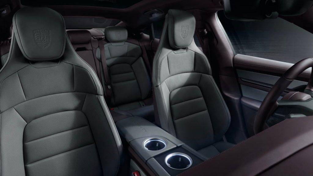 2021 Porsche Taycan RWD interior front seats