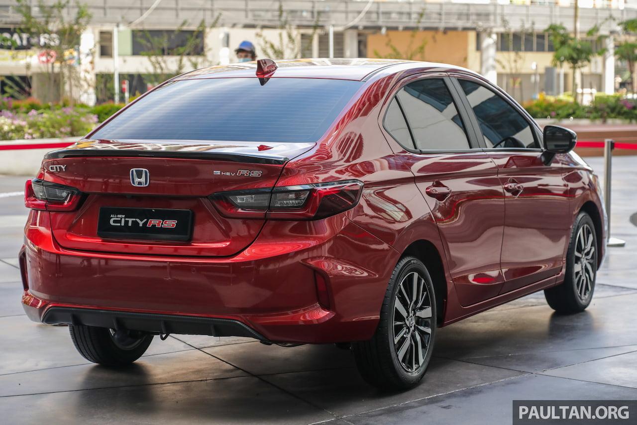 All-new 2021 Honda City Hybrid rear quarters live image