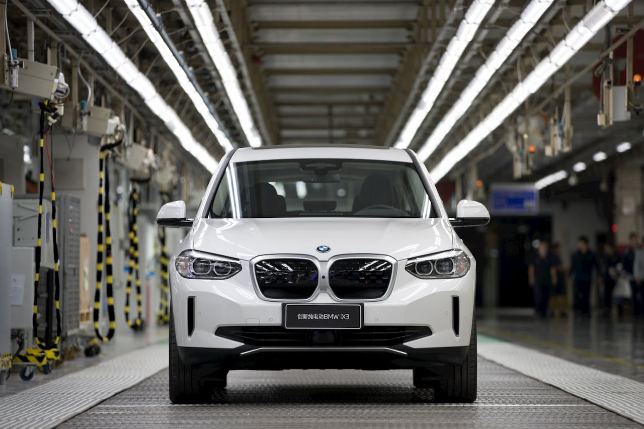 BMW iX3 production Shenyang China
