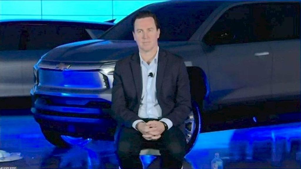 Chevrolet Silverado EV front teaser