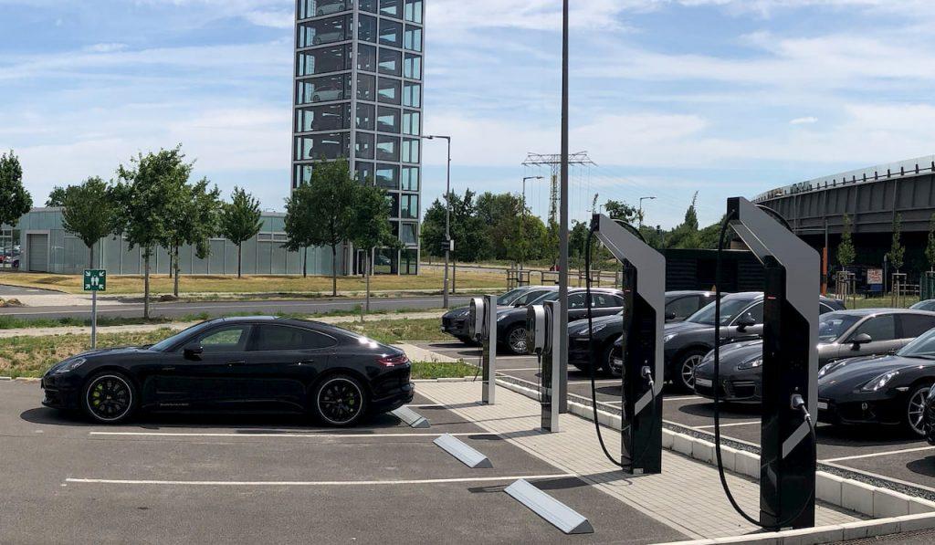 Electric Vehicle Charging Station Porsche Berlin-Adlershof