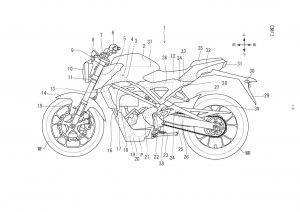 Honda electric bike patent profile