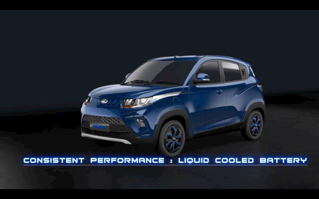 Mahindra eKUV100 Electric Blue body colour - Mahindra electric car
