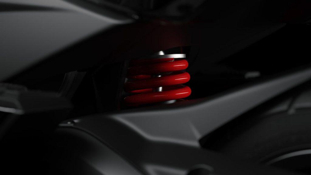 Ather 450X Series1 DayGlo Red Monoshock