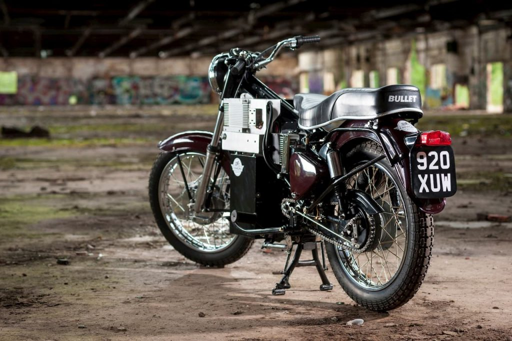 'Charging Bullet' electric Royal Enfield Bullet conversion battery and motor