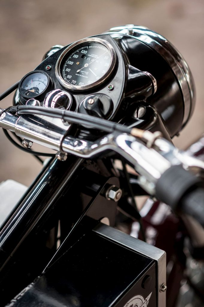 'Charging Bullet' electric Royal Enfield Bullet conversion speedometer