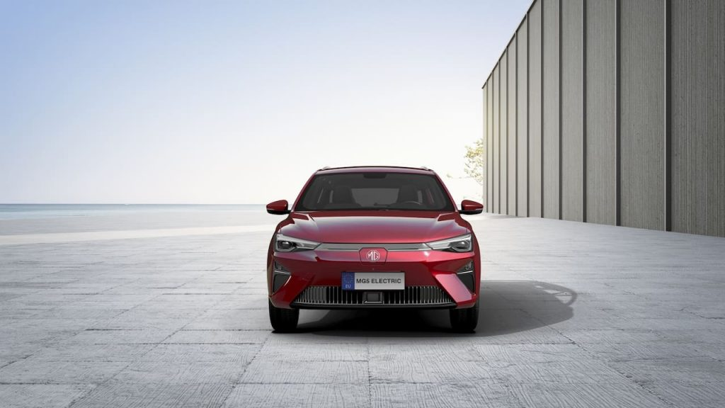 New MG5 EV 2022 front