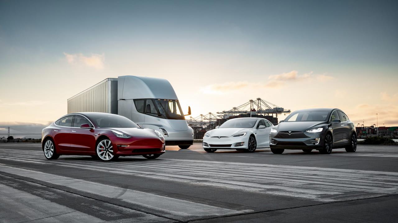 Tesla Model 3 Semi Model S Model X line-up