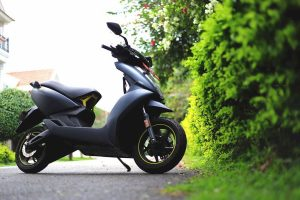Ather 450X front three quarters test ride