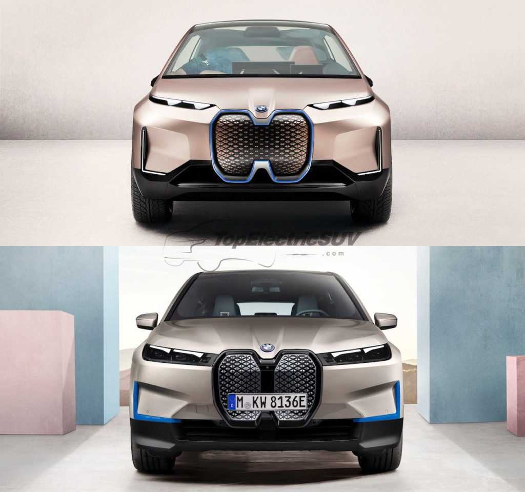 BMW iNext front vs BMW iX front