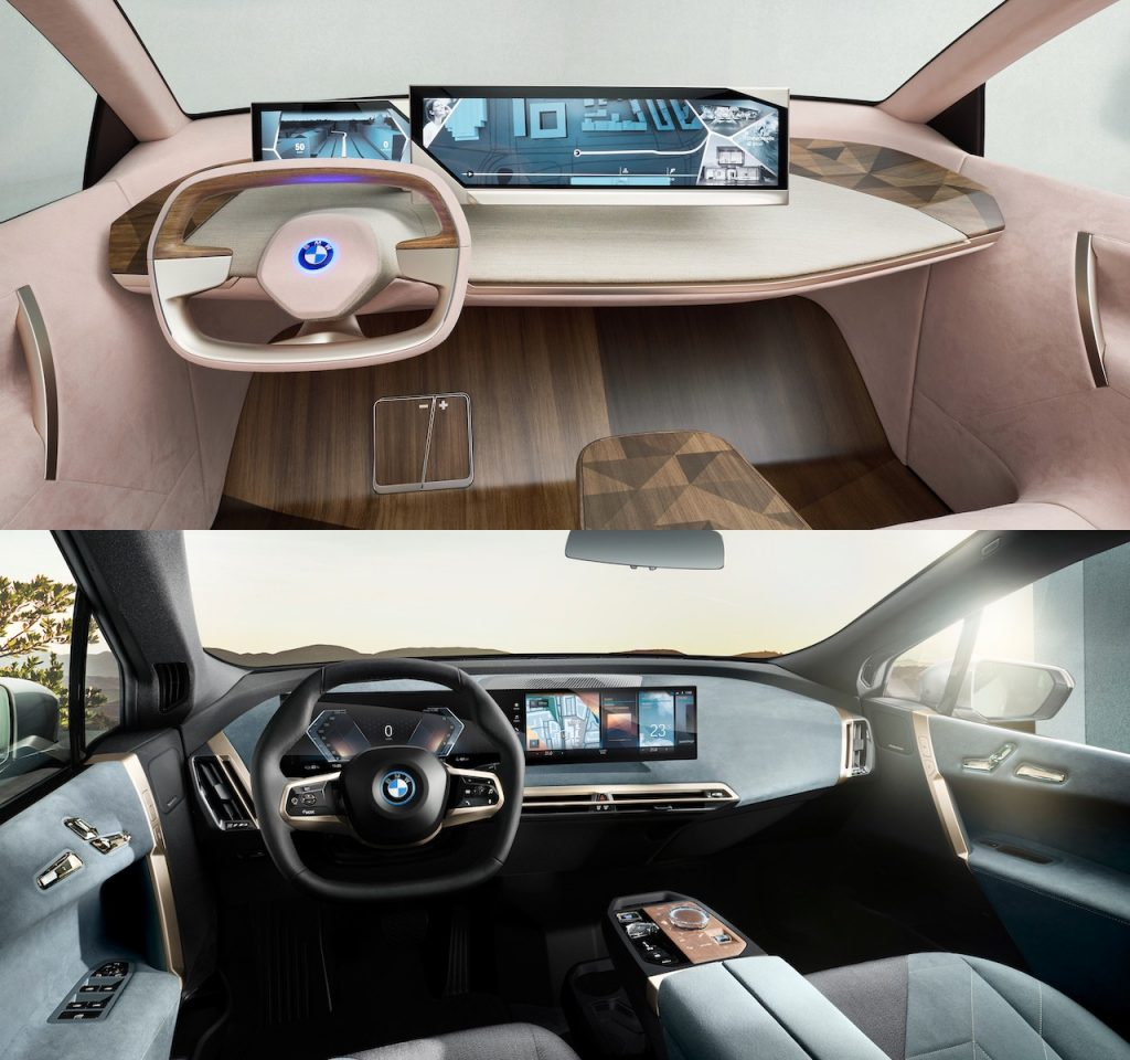 BMW iNext interior vs BMW iX interior
