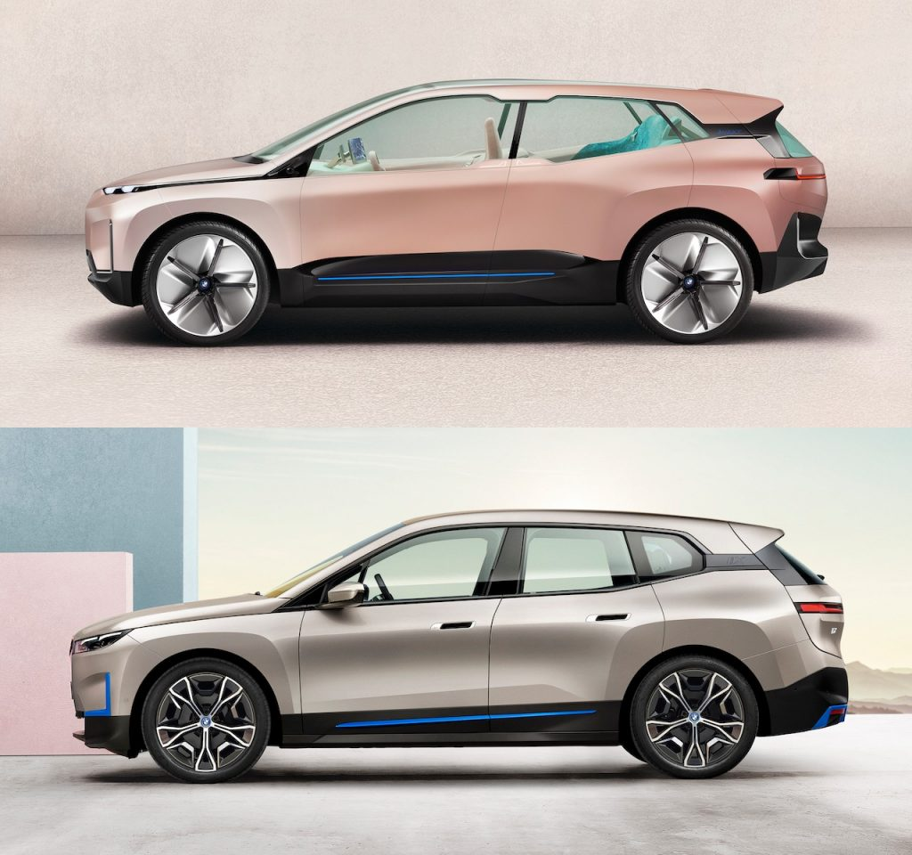BMW iNext side vs BMW iX side