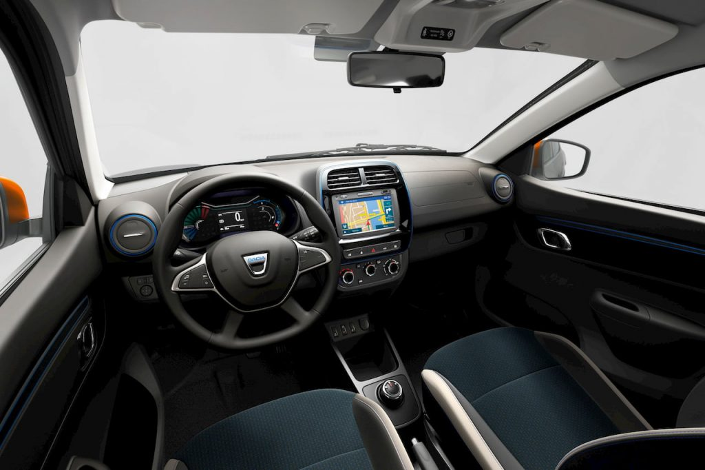 Dacia Spring Electric interior dashboard (based on the Renault Kwid Electric)