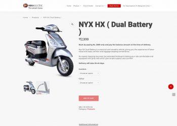 Hero Electric NYX HX electric scooter's correct range is 100 km